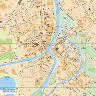 Verdun city center map